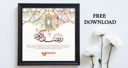 image relating to Ramadan Cards Printable called Printable Ramadan Greeting Card - Pathways Local