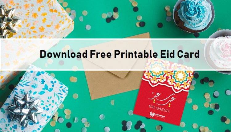 image regarding Eid Cards Printable titled Cost-free Printable Eid Card - Pathways Local